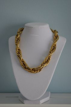 Vintage 80s Anne Klein Gold Tone Chunky Chain by cougarvintage, $52.00
