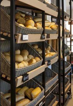 Bakery Shop Design, Coffee Shop Design, Artisan Boulanger, Store Concept, Belgium Food, Bread Display, Bakery Store, Bakery Interior, Vegetable Shop