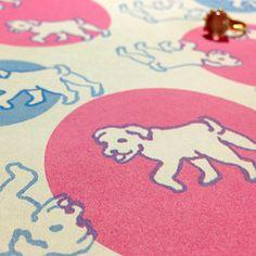 ☆販売開始☆ラッピングペーパーこいぬのさんぽ   #Wrappingpaper #textile