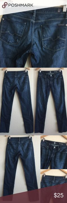 7 Seven For All Mankind 💗 Roxanne Sz 24 x 31 Super cute!  Great pair of pre-loved jeans!  Bundle to save! 7 For All Mankind Jeans