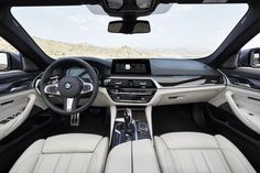 The interior of the new BMW 5 Series Sedan strikes a fine balance between sporty driver focus on the one hand and sophisticated elegance on the other. Bmw Suv, Bmw Cars, 2017 Bmw 5 Series, New Bmw 5 Series, Bmw Autos, Bmw Car Models, Microsoft, Tuning Bmw, Truck Accessories