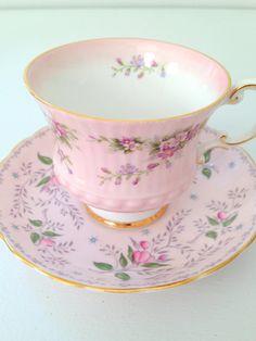 Vintage English Bone China Tuscan Fine Bone China Teacup and Saucer Set