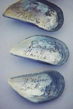 Mussel Place Cards | 35 Cute And Clever Ideas For Place Cards