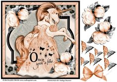 Once upon a time by Nadege Burness A design for girls featuring a lovely unicorn and princess .Suitable for birthdays . Decoupage and…