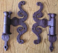 Wrought Iron Design ummm yeah they are purple of course I love it!