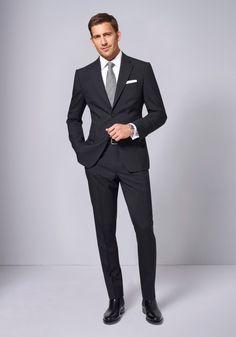Formal suits men - 61 How To Wear Black Suit For Men Work Outfit Mens Fashion Suits, Mens Suits, Men's Fashion, Fashion Tips, Black Suit Combinations, Black Suit Men, Men In Black, Mode Man, Herren Outfit