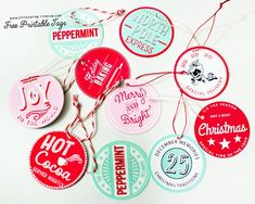 Stitch in Time printable holiday tags - hot cocoa served nightly