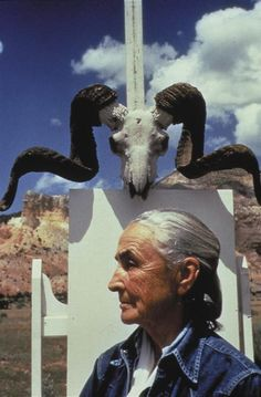"""Georgia O'Keeffe, Ghost Ranch, New Mexico,"" 1968, Arnold Newman"