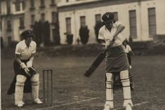 Afternoon of cricket in 1930 at Black Rock, Victoria