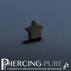 Embout étoile en acier noir de diamètre 4mm pour microdermal. The Selection, Piercings, Pure Products, Peircings, Piercing, Body Piercings