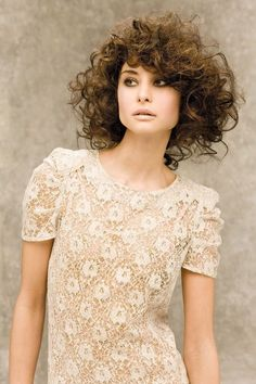 Natalie Portman - Short Curly Hair  If I decide to chop my hair off, this is what would  happen...