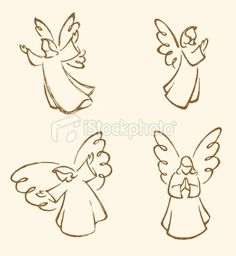 View top quality illustrations of Angel Sketch Set. Find premium, high-resolution illustrative art at Getty Images. Christmas Nativity, Christmas Angels, Christmas Art, Christmas Ornaments, Angel Sketch, Angel Art, Free Vector Art, Rock Art, Painted Rocks