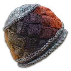 Knitting Patterns and Kits - Idun Entrelac Hat by Knitwhits