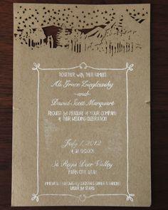 A rustic chic wedding invitation from rusticweddingchic.com