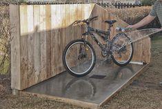 Outdoor bike wash