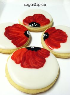 Poppy flowers favors - wedding/bridal/party