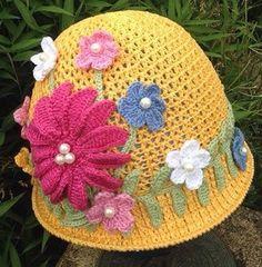 Crochet summer hat girl hat handmade hat panama por Verascrochet