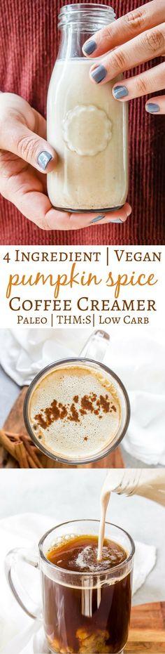 Low-carb Vegan Pumpkin Creamer - dairy-free, paleo, THM:S, healthy, easy