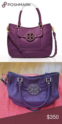 Tory Burch Amanda Satchel in Purple In excellent condition 💕 stock pics for size reference only Tory Burch Bags Satchels