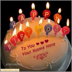 Birthday Cake With Name Editor Online Elegant Group 39 Items
