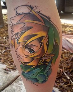 Watercolor Link done by @lifeafterwartattoos.