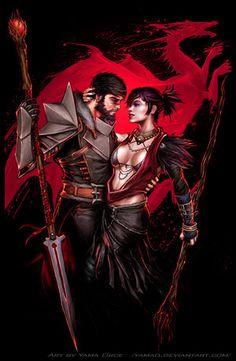Dragon Age Morrigan and Hawke