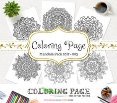 Mandala Coloring Page Printable Floral Mandala Adult Coloring Book AntiStress Coloring Art Therapy Instant Download Zen Digital Art Coloring