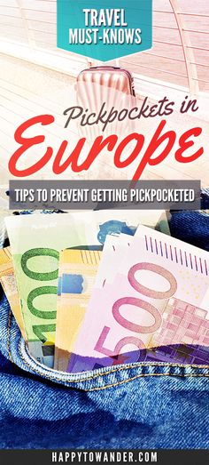 The ultimate list of safety tips for avoid pickpockets in Europe! Don't miss this guide full of golden tips on how to avoid pickpockets while travelling around Europe. #Travel #Europe #TravelSafety