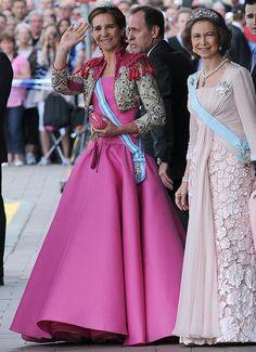 Infanta Elena of Spain and her  Queen mother Sophia