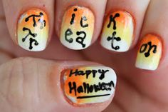 Tes Did It Nails: This is Halloween Nail Art Challenge : 30th : Trick or Treat