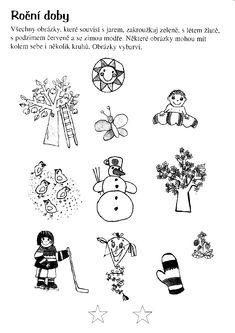 Pracovní Listy | Předškoláci - omalovánky, pracovní listy Weather For Kids, Seasons Of The Year, Teaching, Google, Education, Onderwijs, Learning, Tutorials
