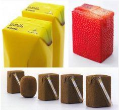 Packaging de jus de fruit designé par Naoto Fukasawa.