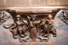 Medieval misericord scene by Richard Croft, via Geograph