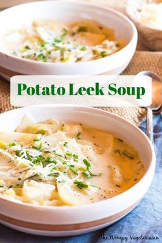 Factors You Need To Give Thought To When Selecting A Saucepan Easy Potato Leek Soup With Either Hatch Chiles, If They're In Season, Or Poblano Chilies. Brimming with Flavor, This Is The Perfect Springtime Soup When Leeks Are At Their Best. Easy Soup Recipes, Potato Recipes, Easy Dinner Recipes, Vegetarian Recipes, Healthy Recipes, Chili Recipes, Drink Recipes, Free Recipes, Potato Leek Soup