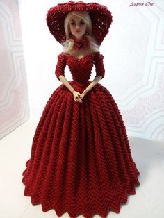 """Best 12 DIY Skirt and top for doll — Anyone can do this from TLC Family """"No-Sew Doll Fashions"""" – SkillOfKing.Com - Para Sahibi Crochet Barbie Patterns, Crochet Doll Dress, Crochet Barbie Clothes, Doll Clothes Barbie, Doll Clothes Patterns, Dress Patterns, Barbie Doll, Barbie Gowns, Barbie Dress"""