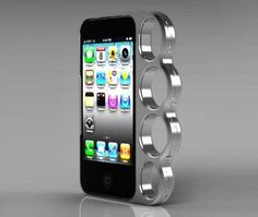 You can turn your iPhone in a potential weapon with the Knuckle Case