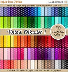 VENDITA 100 pois colorato digitale documenti arcobaleno