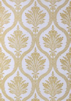 CLESSIDRA, Metallic Gold on Lilac, T89158, Collection Damask Resource 4 from Thibaut