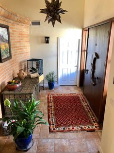 Rug Reveal from El Paso, Texas!  Yes, we have loyal customers both near and far!  We loved being a part of this home makeover...  this was just one of many spaces in this Rancher!