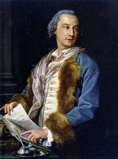 Pompeo Batoni, Portrait of Francesco Benaglio, 1757. Treviso, Museo Diocesano di Arte Sacra  #TuscanyAgriturismoGiratola