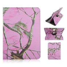 "For Kindle Fire HD 10"" Tablet Pink Camo Tree CASE COVER STAND FIT 9.5-10"""