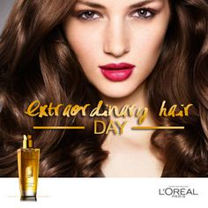 The richest oil, the lightest touch, the most gorgeous hair. Experience a great hair day every day with L'Oréal Paris Extraordinary Oil. To use as a finishing touch, apply a few drops to the tips of your hair to enhance your hairstyle and ensure breathtaking shine. Pin this if you want perfect looking hair! :)