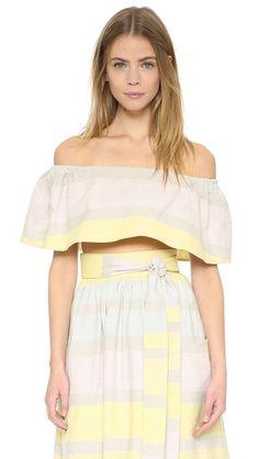 MARA HOFFMAN Off Shoulder Top. #marahoffman #cloth #top #shirt
