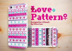 Love Pattern Case designed for Apple iPhone 5 #Love #lovePattern #valentinegift #appleiphonecase #iphone5case #DesignerCase #UltraCase