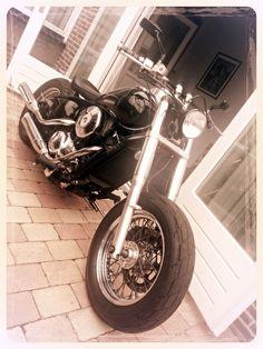 My Girlfriends ride...  Kawasaki VN Vulcan 800 Bobber