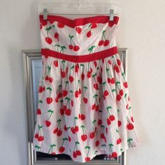 Adorable retro cherry dress Super cute strapless cherry print dress, retro style, minor bleeding around cherries, still adorable dress though and otherwise in excellent condition! Double Zero Dresses Strapless