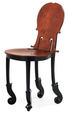A Fernandez Arman chair, nr 3/50, Signed Arman and numbered 3/50 B on metal plate. Executed in 2004. Wood, height 87 cm. Edition Hugues Chevalier