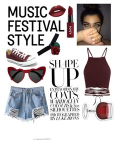 """""""Coachella look ♥️"""" by simi1309 on Polyvore featuring Mode, Converse, NYX, Lime Crime und Yves Saint Laurent"""