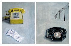 Phone Paintings by Virginia Earle, via Behance