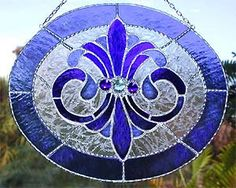 Stained Glass Suncatcher in Blue Glass by StainedGlassDelight